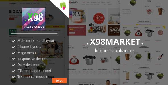 X98 - Kitchenware Responsive Prestashop Theme - Shopping PrestaShop