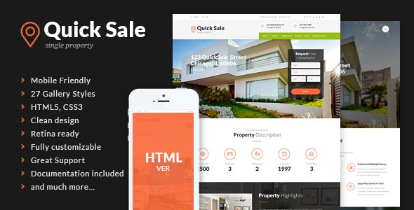Quick Sale - Real Estate HTML Theme - Business Corporate