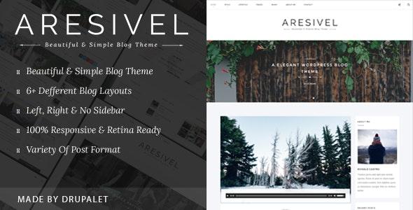 Aresivel - A Responsive Drupal Blog Theme - Personal Blog / Magazine