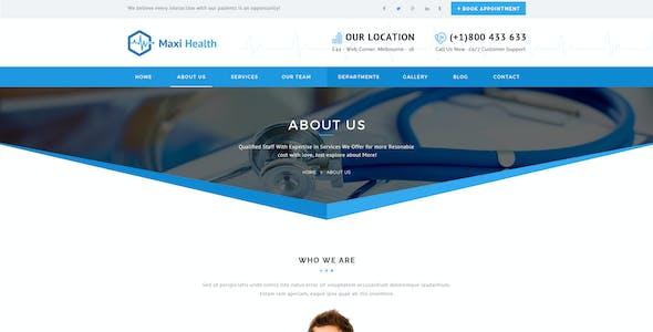 Maxi Health : Medical & Health PSD Template
