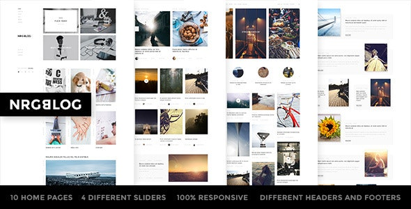 NRGBlog -  Responsive Blog / Magazine WordPress Theme - Personal Blog / Magazine