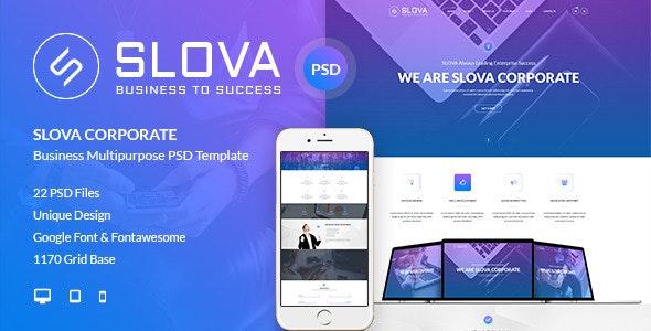 Slova - Corporate PSD Template - Corporate Photoshop