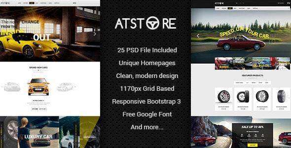 ATStore - Multipurpose eCommerce PSD Template - Creative Photoshop