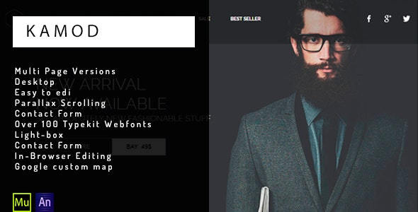 KAMOD- eCommerce Muse Template - eCommerce Muse Templates