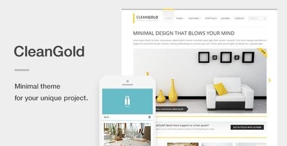 CleanGold - A Minimal Responsive WordPress Theme - Portfolio Creative