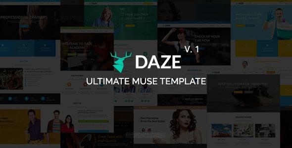 DAZE - Ultimate Business Muse Template - Corporate Muse Templates