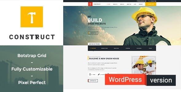 Construct - Construction, Building WordPress Theme