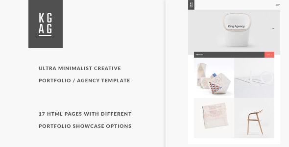 King Agency - Ultra minimalist creative portfolio  - Portfolio Creative