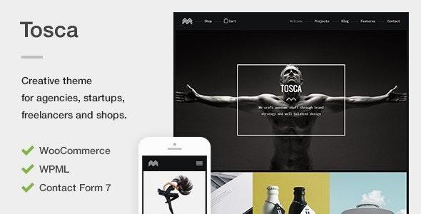 Tosca - A Fresh Creative Portfolio & Ecommerce WordPress Theme - Creative WordPress