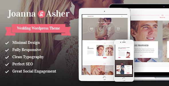 Wedding Day - Birthday, Marriage & Event WordPress Theme - Wedding WordPress