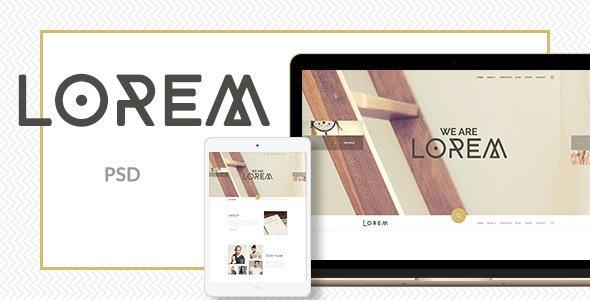 Lorem - Clean and Modern PSD Template - Creative Photoshop
