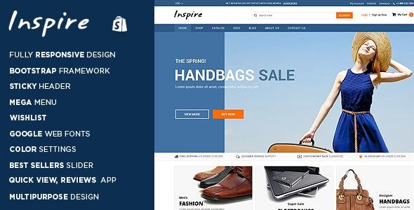 Inspire - Responsive Shopify Theme - Shopping Shopify
