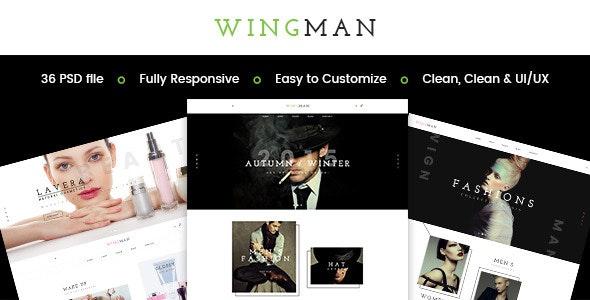 WINGMAN - E-Commerce and Blog PSD Theme - Photoshop UI Templates