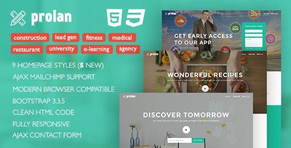 Prolan - Multipurpose Bootstrap Landing Page - Landing Pages Marketing