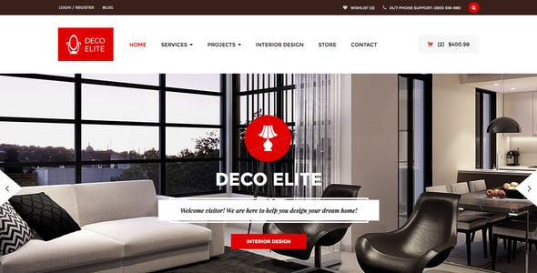 Furniture Websites Templates From Themeforest