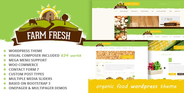 Farm Fresh - Organic Products WordPress Theme - Food Retail