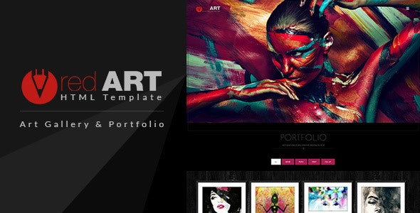 Red Art - Gallery and Photography HTML Template - Creative Site Templates