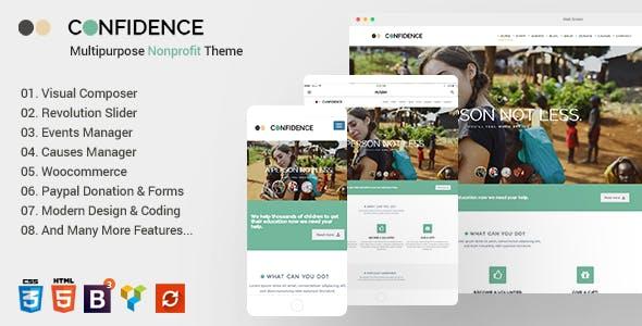Confidence - Multipurpose WordPress Nonprofit Charity Theme