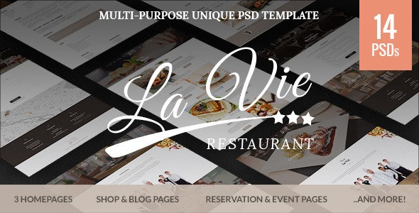 Catering - Restaurant & Cafe PSD Template - Restaurants & Cafes Entertainment