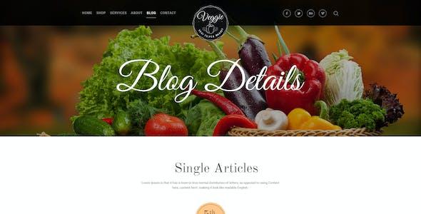 Veggie Super Market | Multipurpose PSD Template
