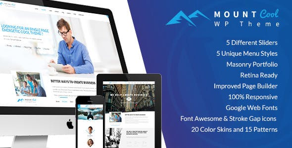 MountCool -  Single Page Portfolio
