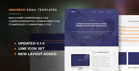 Unoxdigi Responsive Email Templates - Newsletters Email Templates