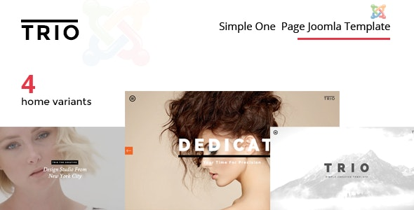 TRIO - Simple One Page Joomla Template - Joomla CMS Themes