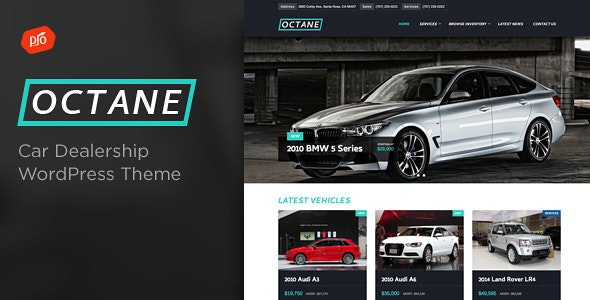 Octane - Car Dealership Theme - Business Corporate