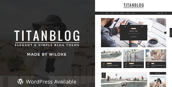Titan - A Responsive Blog Template - Personal Site Templates