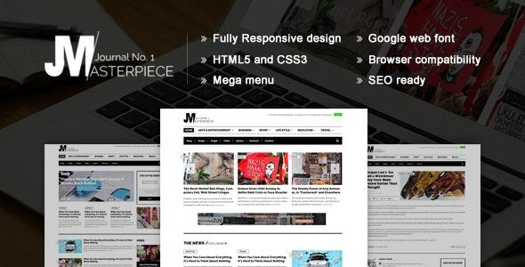 Masterpiece - HTML5 Magazine Template - Corporate Site Templates