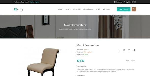 Ganzy -  Furniture Prestashop Theme with Blog