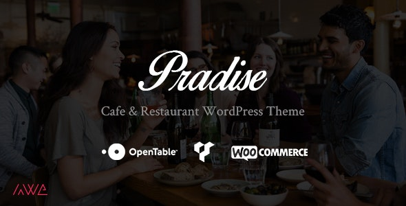 Pradise Cafe & Restaurant WordPress Theme - Restaurants & Cafes Entertainment
