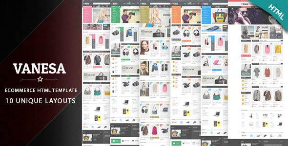 Vanesa - Fashion Electronics Store HTML Template - Shopping Retail