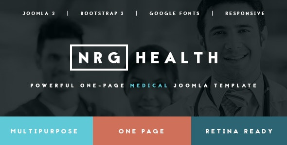 NRGhealth - Trendy Medical & Healthcare Template - Health & Beauty Retail