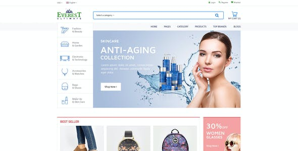 Ultimate Grocery Outlet Store Premium Responsive Magento Theme | Everest