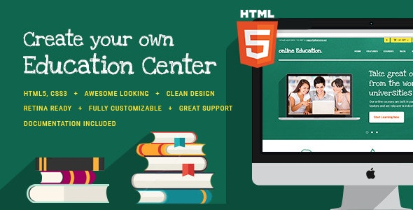 Education Center & Training Courses HTML Theme - Corporate Site Templates