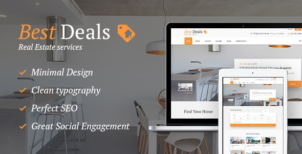 Best Deals - A Modern Property Sales & Rental WordPress Theme - Real Estate WordPress