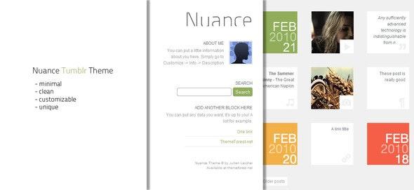 Nuance Tumblr Theme - Blog Tumblr
