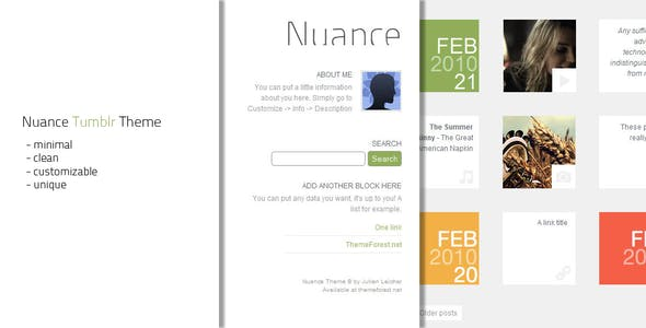News Tumblr Themes from ThemeForest