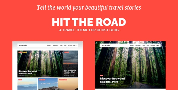 Hit the Road - Travel Theme for Ghost Blog - Ghost Themes Blogging