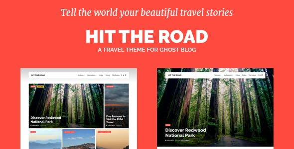 Hit the Road - Travel Theme for Ghost Blog