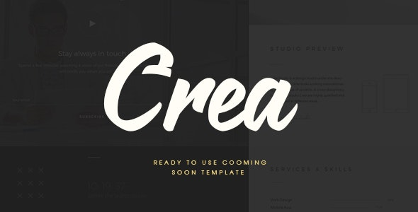 CREA | Coming Soon Template - Under Construction Specialty Pages