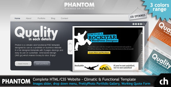 PHANTOM - Climatic and Functional HTML Template - Creative Site Templates