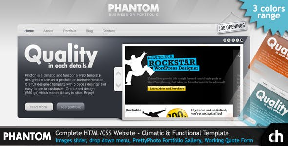 PHANTOM - Climatic and Functional HTML Template