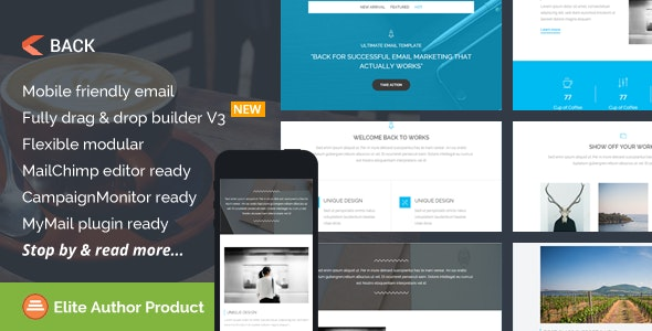 Back, Multipurpose Email Template + Builder Access - Email Templates Marketing