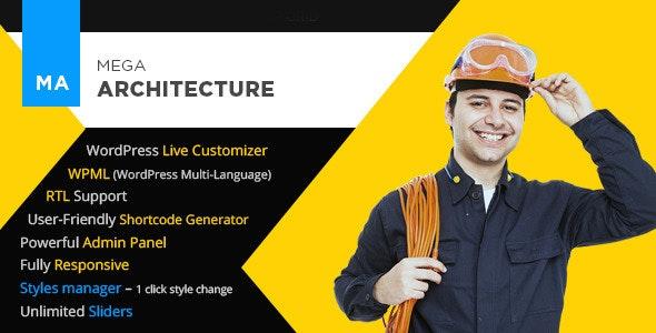 Mega Architecture - Construction/Building WP Theme - Business Corporate