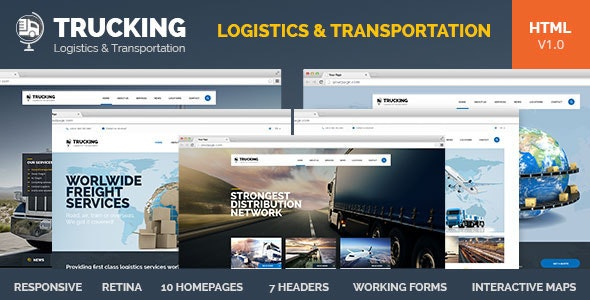 Trucking-Transportation & Logistics HTML Template by pixel