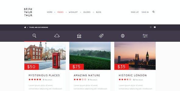 Book Your Tour - Excursion Community PSD Template