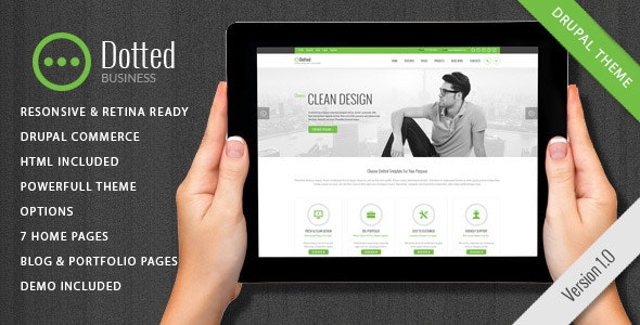 Dotted - Corporate Multipurpose Drupal 7.6 Theme - Business Corporate