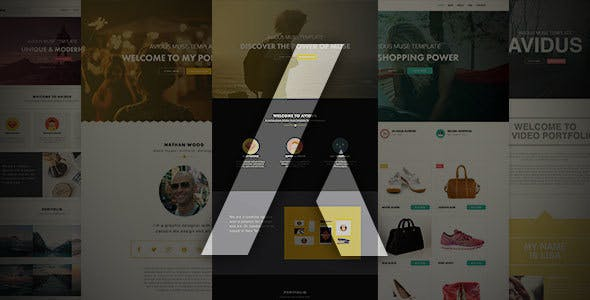 Avidus - Multipurpose Muse Template for Creatives & Agencies